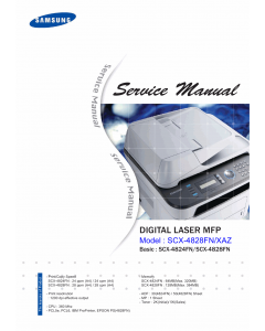 Samsung Digital-Laser-MFP SCX-4824FN 4828FN Parts and Service Manual