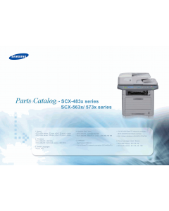 Samsung Digital-Laser-MFP SCX-4833 483x 563x 573x Parts Manual