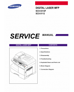 Samsung Digital-Laser-MFP SCX-5312F 5112 Parts and Service Manual