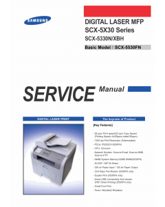 Samsung Digital-Laser-MFP SCX-5330N Parts and Service Manual