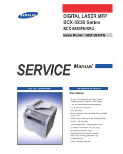 Samsung Digital-Laser-MFP SCX-5530FN Service Manual