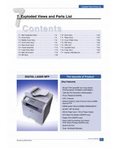 Samsung Digital-Laser-MFP SCX-5530 Parts Manual