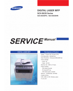 Samsung Digital-Laser-MFP SCX-5635FN 5635HN Parts and Service Manual