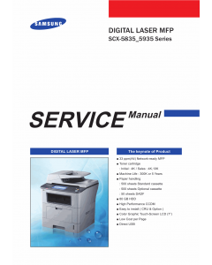 Samsung Digital-Laser-MFP SCX-5835 5935 Parts and Service Manual