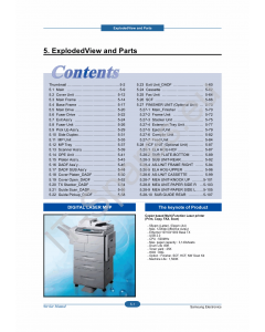 Samsung Digital-Laser-MFP SCX-6555N Parts Manual