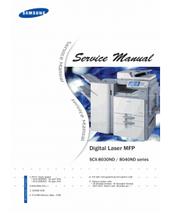 Samsung Digital-Laser-MFP SCX-8030ND 8040ND Parts and Service Manual