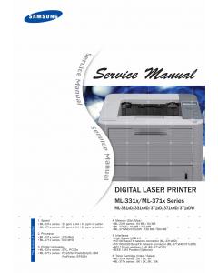 Samsung Digital-Laser-Printer ML-331x 371x 331xD 371xD 371xDW Service Manual