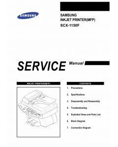 Samsung InkJet-MFP SCX-1150 Parts and Service Manual