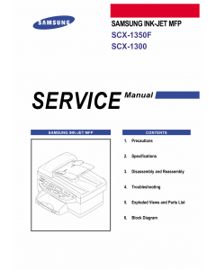 Samsung InkJet-MFP SCX-1350F 1300 Parts and Service Manual