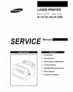Samsung Laser-Printer ML-1210 1250 1220M Parts and Service Manual