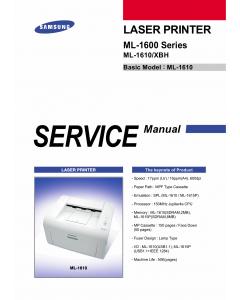 Samsung Laser-Printer ML-1600 1610 Parts and Service Manual