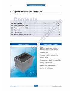 Samsung Laser-Printer ML-2240 Parts Manual