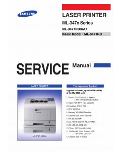Samsung Laser-Printer ML-3471ND Parts and Service Manual