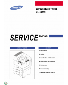 Samsung Laser-Printer ML-3550N Parts and Service Manual