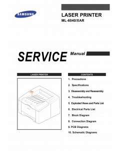 Samsung Laser-Printer ML-6040 Parts and Service