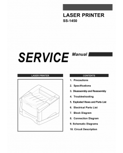 Samsung Laser-Printer SS-1450 Parts and Service Manual