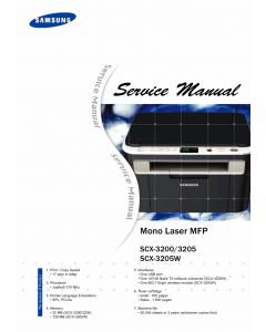 Samsung Mono-Laser-MFP SCX-3200 3205 3205W Parts and Service Manual