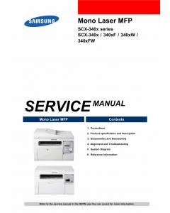Samsung Mono-Laser-MFP SCX-3400 340x 340xF 340xW Service Manual