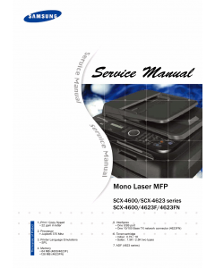Samsung Mono-Laser-MFP SCX-4600 4623 4623F 4623FN Parts and Service Manual