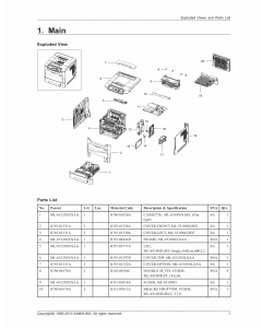 Samsung Mono-Laser-Printer ML-551x 651x Parts Manual