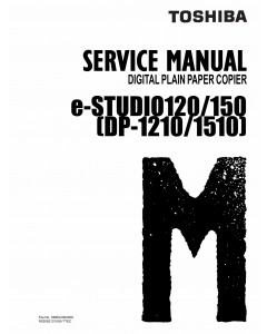 TOSHIBA e-STUDIO 120 150 DP1210 1510 Service Manual