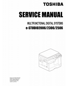 TOSHIBA e-STUDIO 2006 2306 2506 Service Manual