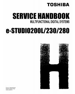TOSHIBA e-STUDIO 200L 230 280 Service Handbook