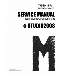 TOSHIBA e-STUDIO 200S Service Manual