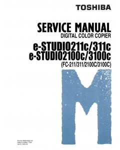 TOSHIBA e-STUDIO 211C 311C 2100C 3100C FC211 311 2100C 3100C Service Manual