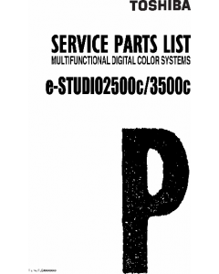 TOSHIBA e-STUDIO 2500C 3500C Parts List Manual