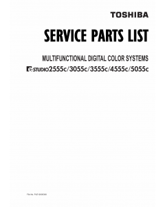 TOSHIBA e-STUDIO 2555C 3055C 3555C 4555C 5055C CSE Parts List Manual