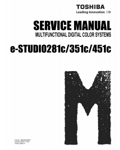 TOSHIBA e-STUDIO 281c 351c 451c Service Manual