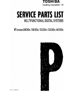 TOSHIBA e-STUDIO 2820C 2830C 3520C 3530C 4520C Parts List Manual