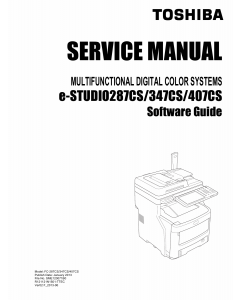TOSHIBA e-STUDIO 287CS 347CS 407CS Software Service Manual