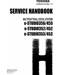 TOSHIBA e-STUDIO 350 450 352 452 353 453 Service Handbook