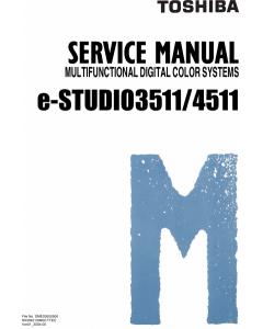TOSHIBA e-STUDIO 3511 4511 Service Manual