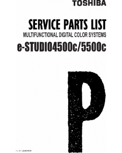 TOSHIBA e-STUDIO 4500C 5500C Parts Manual