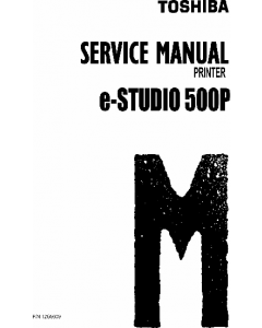 TOSHIBA e-STUDIO 500P Service Manual
