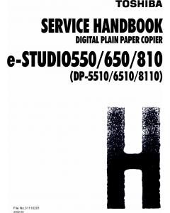 TOSHIBA e-STUDIO 550 650 810 DP5510 6510 8110 Service Handbook