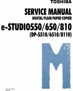 TOSHIBA e-STUDIO 550 650 810 DP5510 6510 8810 Service Manual
