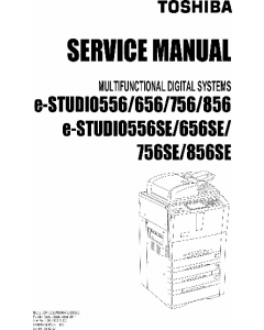 TOSHIBA e-STUDIO 556 656 756 856 SE Service Manual