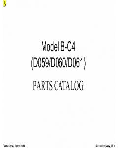TOSHIBA e-STUDIO 905 1105 1355 Parts List Manual