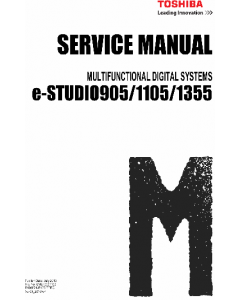 TOSHIBA e-STUDIO 905 1105 1355 Service Manual