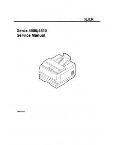 Xerox DocuPrint 4505 4510 Parts List and Service Manual