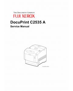 Xerox DocuPrint C2535 Fuji Color-Laser-Printer Parts List and Service Manual