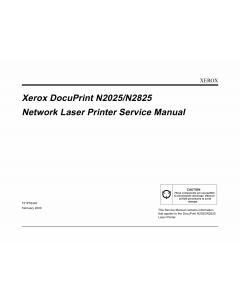 Xerox DocuPrint N2025 N2825 Service Manual