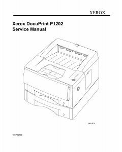 Xerox DocuPrint P1202 Parts List and Service Manual