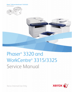 Xerox Phaser 3320 WorkCentre-3315 3325 Parts List and Service Manual