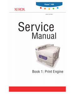 Xerox Phaser 7400 With-Options Parts List and Service Manual