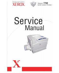 Xerox Phaser 7750 Parts List and Service Manual